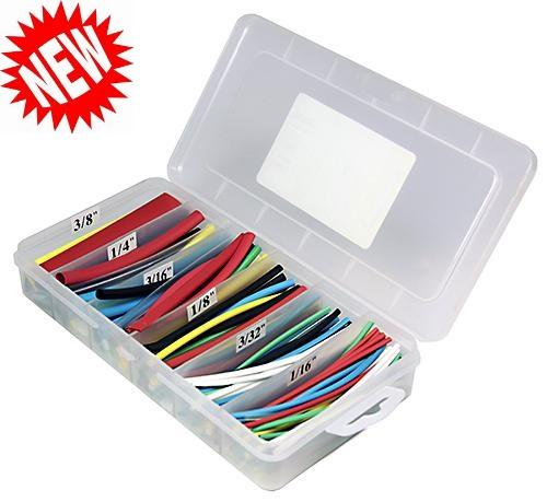 """160 pc 4"""" long Heat Shrink Tubing Kit - Multi Color"""