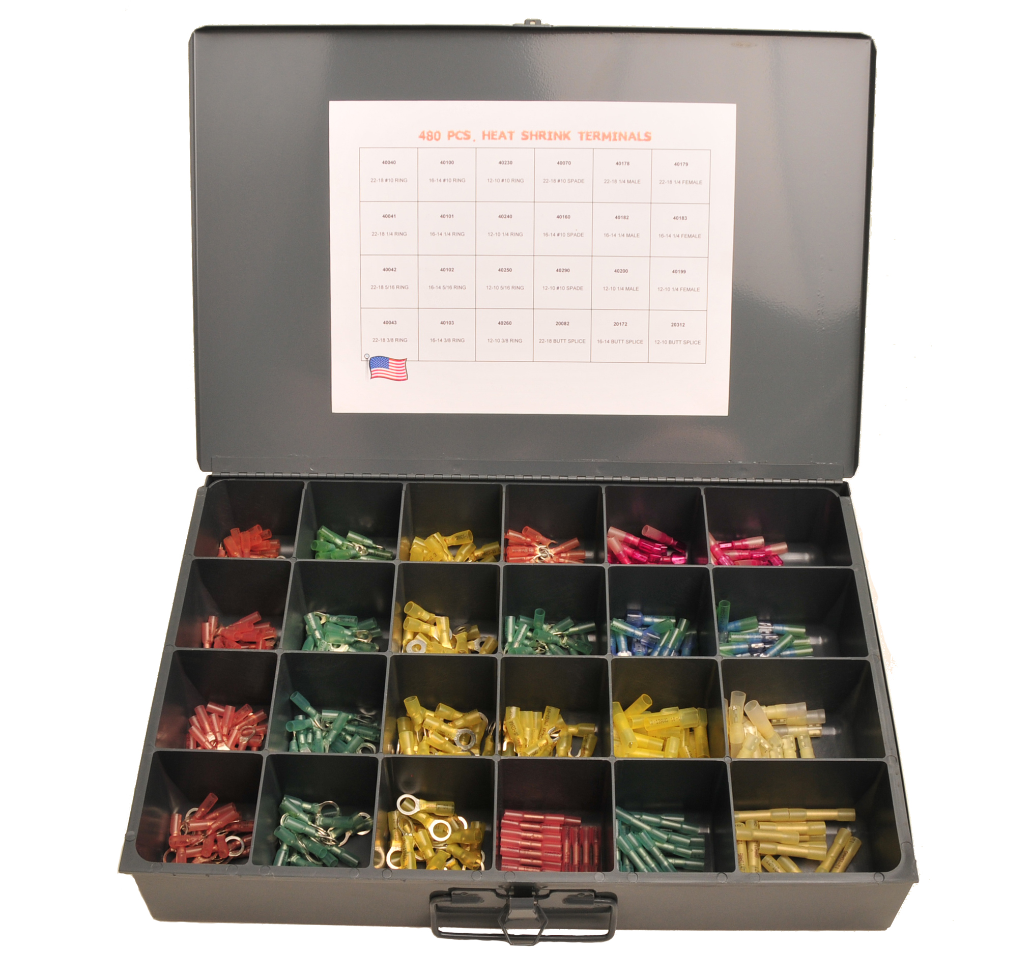 480 pc Heat Shrink Kit Metal
