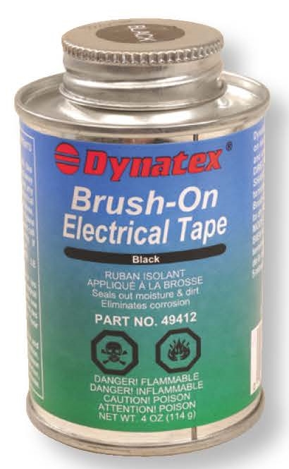 Black Brush On Electrical Tape