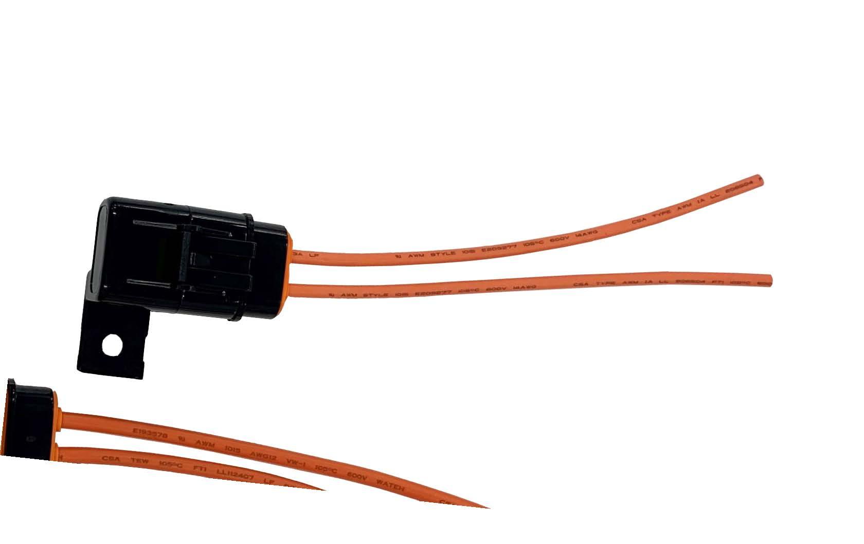 Fuse Holder - 12 ga Standard Fuse Waterproof 30 amp
