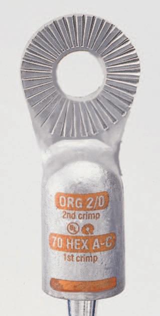 BT Stud Top - 2/0 AWG Universal - Orange