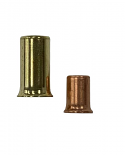 18-10 Brass Crimp Cap