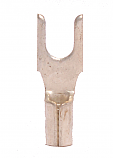 16-14 Non Insulated #6 Block Spade = Brazed Seam - Wide